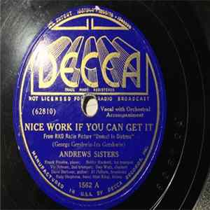 Andrews Sisters - Nice Work If You Can Get It / Bei Mir Bist Du Schon download